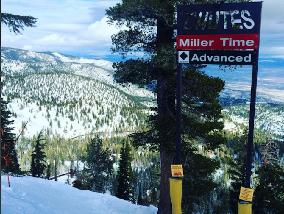 Going into Miller Time at Mt. Rose New Washoe City Nevada United States
