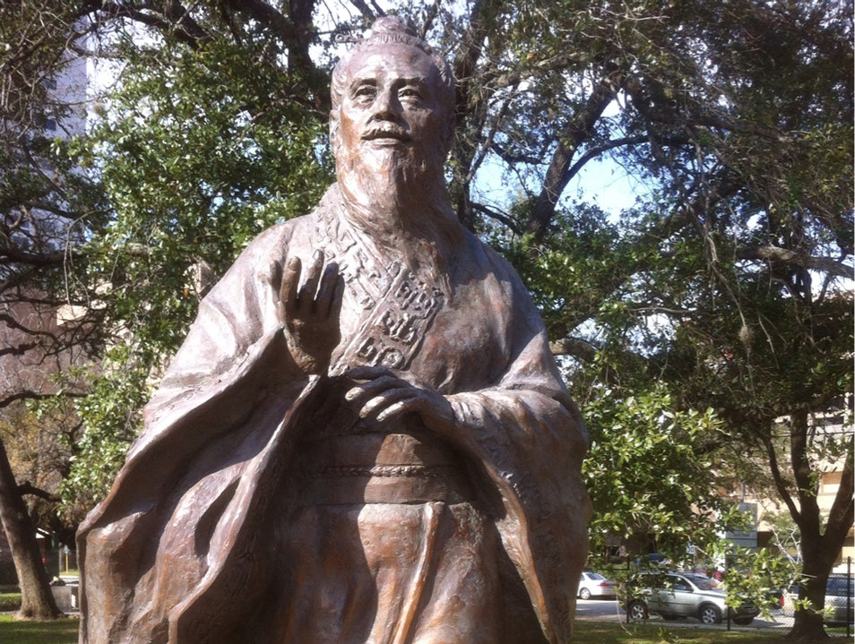 Confucius in Houston's Hermann Park Houston Texas United States