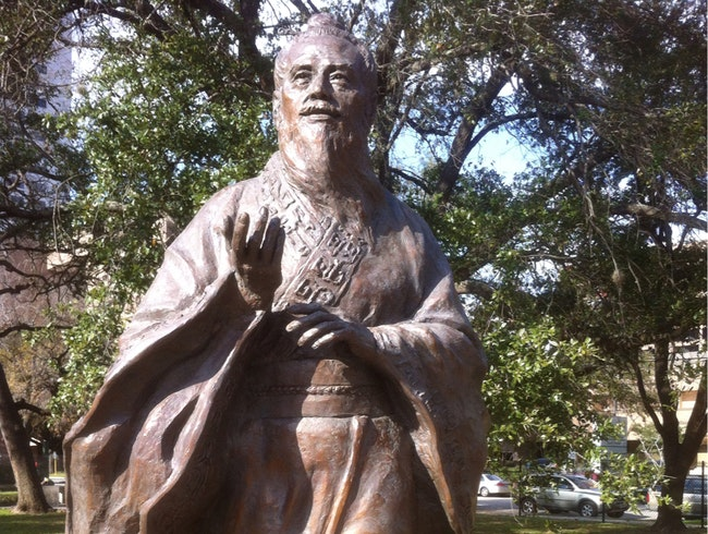 Confucius in Houston's Hermann Park