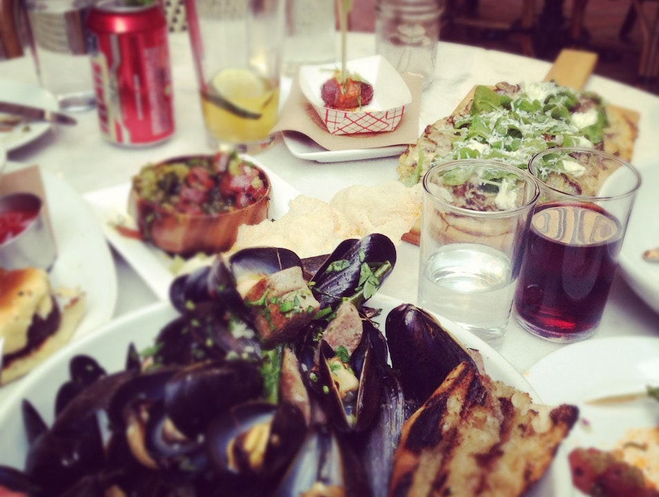 Mussels Dinner at Meat & Potatoes