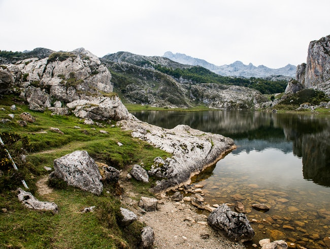 Skinny Dip in Lake Ercina, Picos de Europa, Spain.