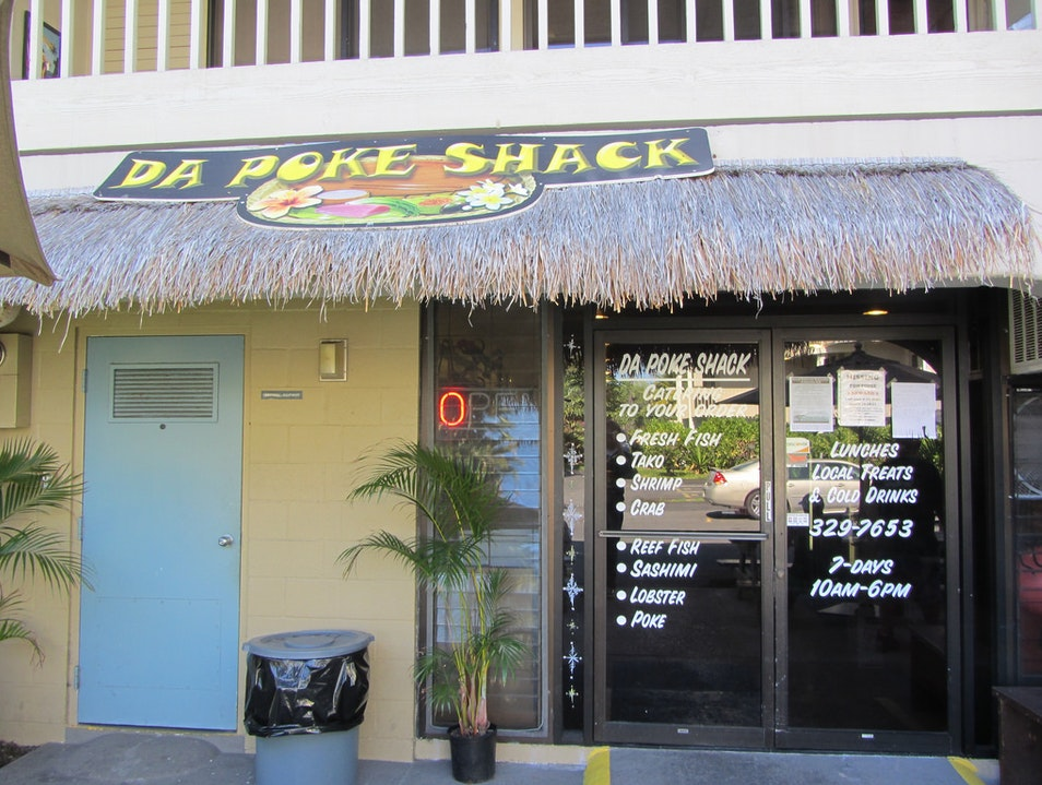 Poke at Da Poke Shack Kailua Kona Hawaii United States