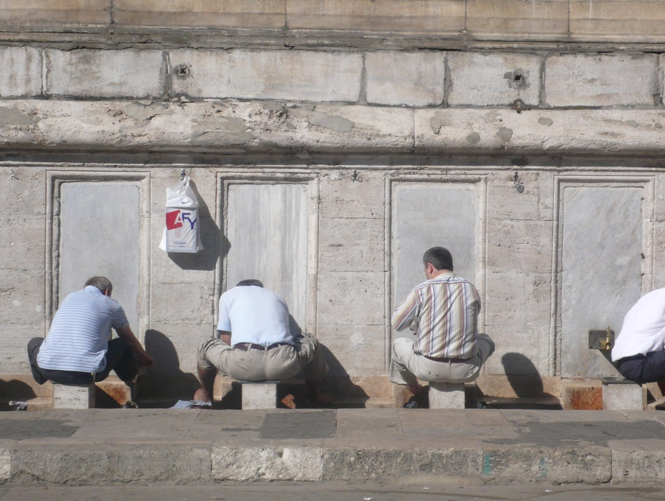 Making ablutions Istanbul  Turkey