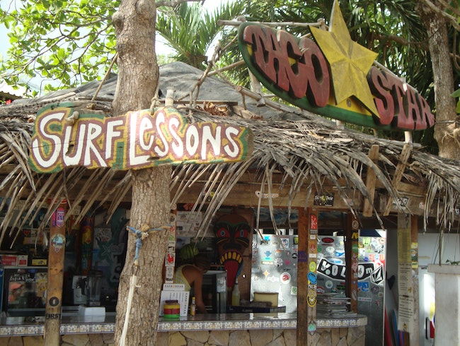 Visit a beachside taco stand