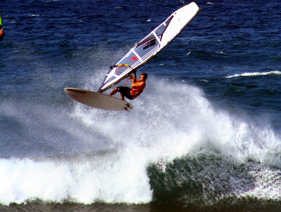 Windsurfers at Hookipa Kahului Hawaii United States