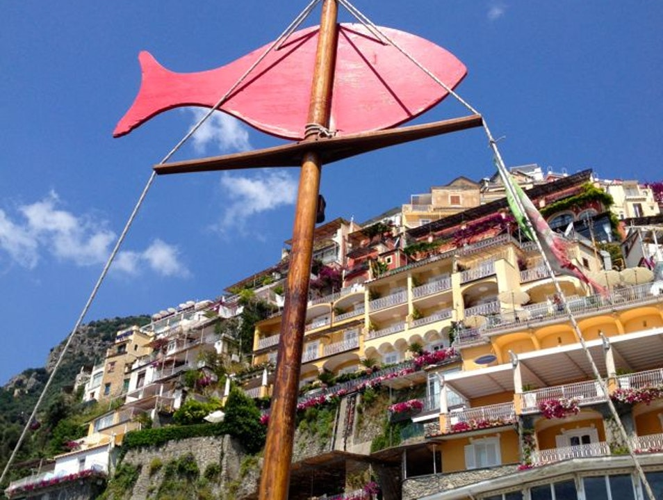 Shabby Chic Beach and Positano's Best Lunch Laurito  Italy