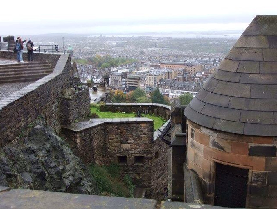View Of Princes Street From The Castle Edinburgh  United Kingdom