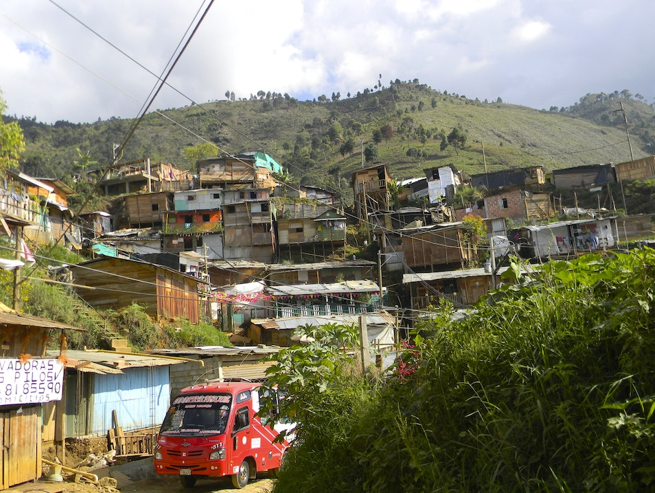 Humble abodes of impoverished families