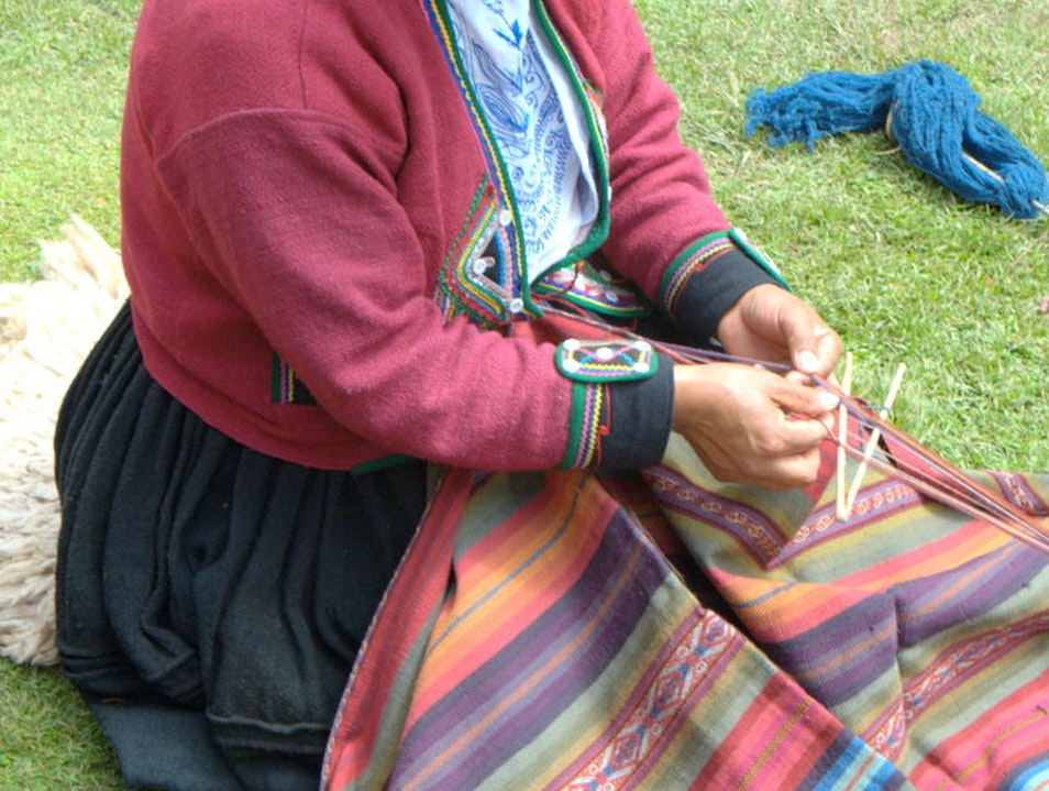 Woman from Chinchero Weaving Collective   Peru