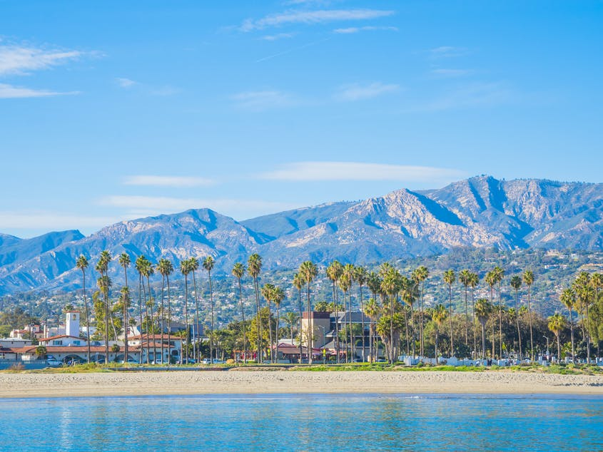 Mountains, palms, and gentle waters—that's Santa Barbara.