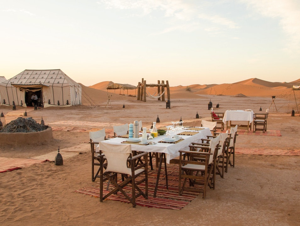 Adventure Camping at Erg Chigaga in the Sahara, Morocco
