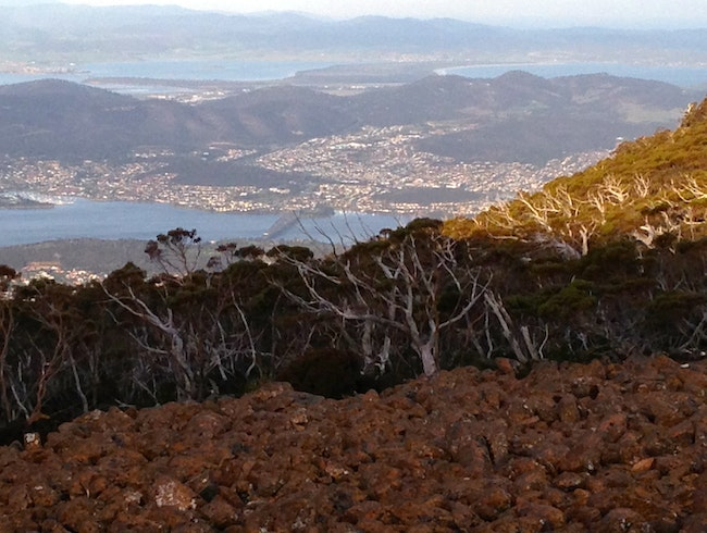 Tasmania -  Top Of Mt. Wellington