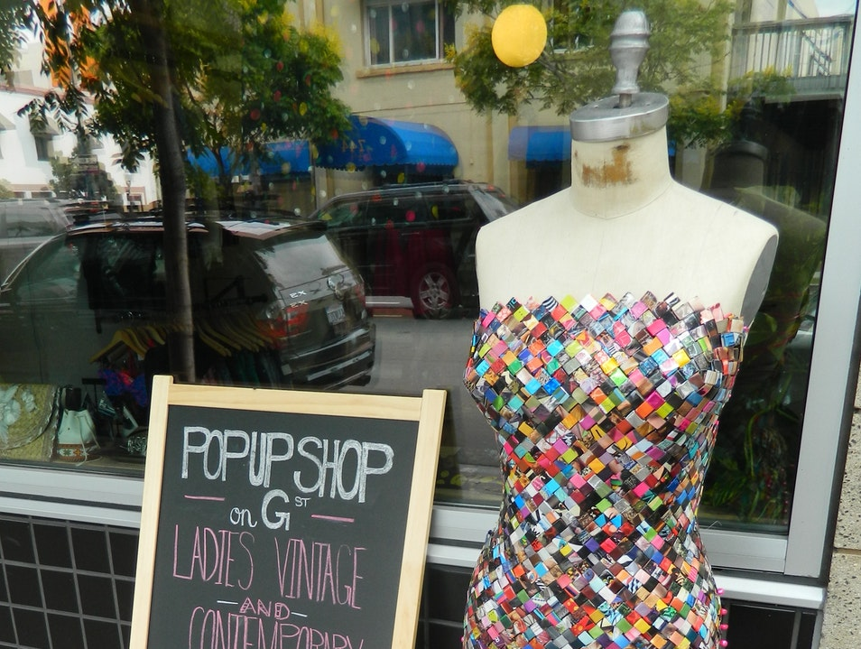 Cute Boutique Offering Local Designers and Vintage Clothes San Diego California United States