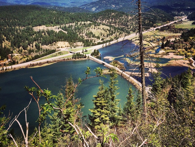Hike Mineral Ridge for a view of Lake Coeur d'Alene