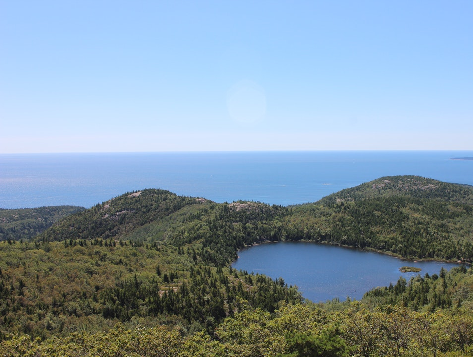 Hiking the Precipice Trail on a blue bird day