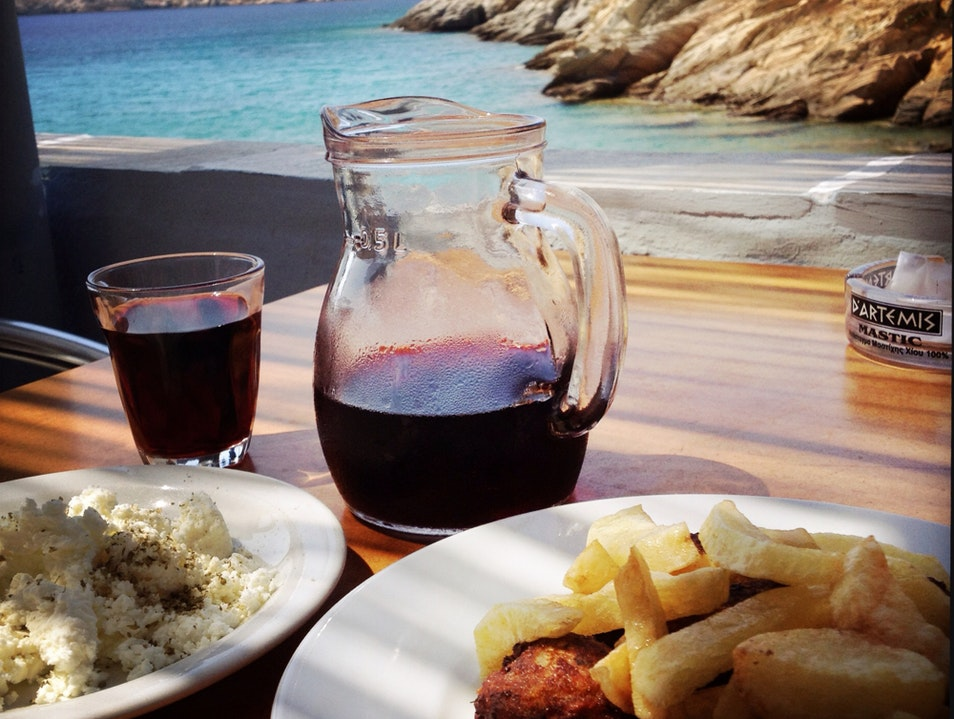 A Restaurant Worth Hiking To, And With A Hidden Greek Island Beach Too