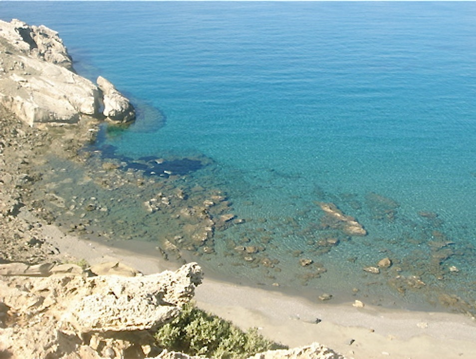 Secluded Beach on the Libyan Sea Agios Pavlos  Greece