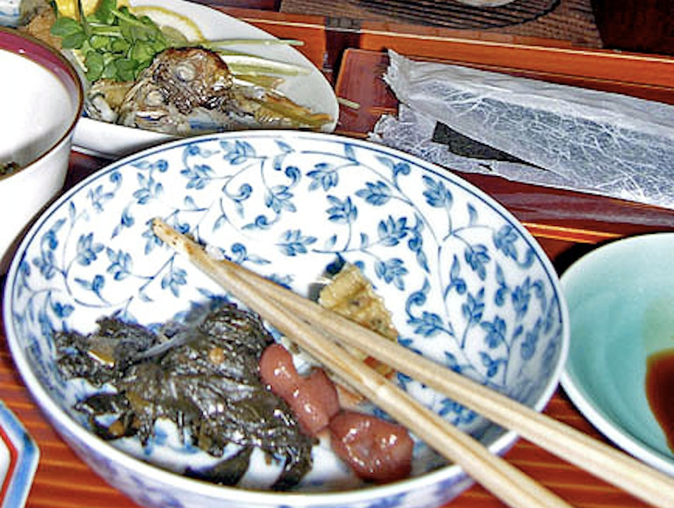 Local Food in Japanese Ryokans Nara  Japan