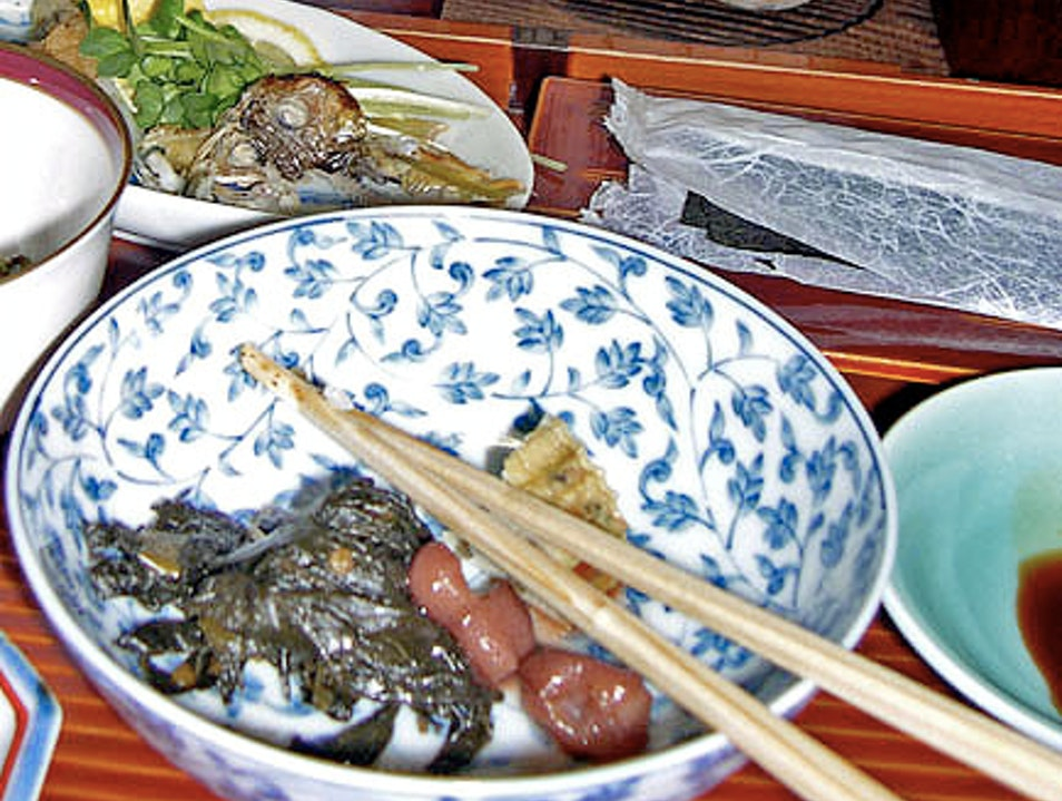 Local Food in Japanese Ryokans