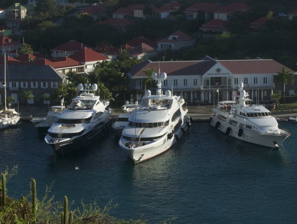 Mega Yachts Watching in Gustavia Harbor