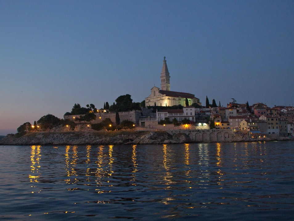 Evening Glow Along Croatia's Coast Rovinj  Croatia