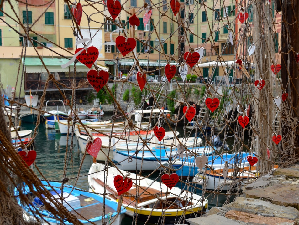 Leave your love on the seashore Camogli  Italy