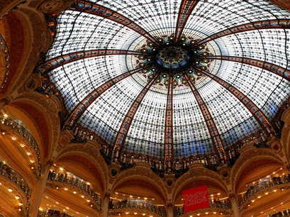 Galeries Lafayette Haussmann Paris  France