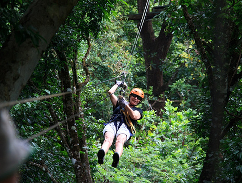Zip Lining through the Jungle Coco  Costa Rica