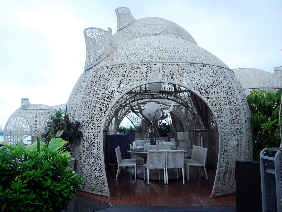 Enjoy Great Views, Fancy Cocktails and Unusual Architecture