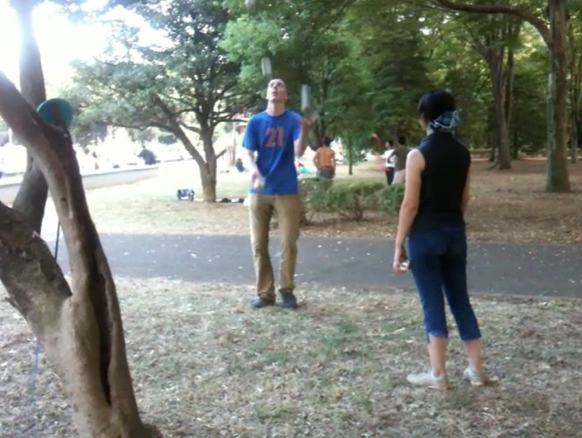 I found jugglers in Yoyogi park