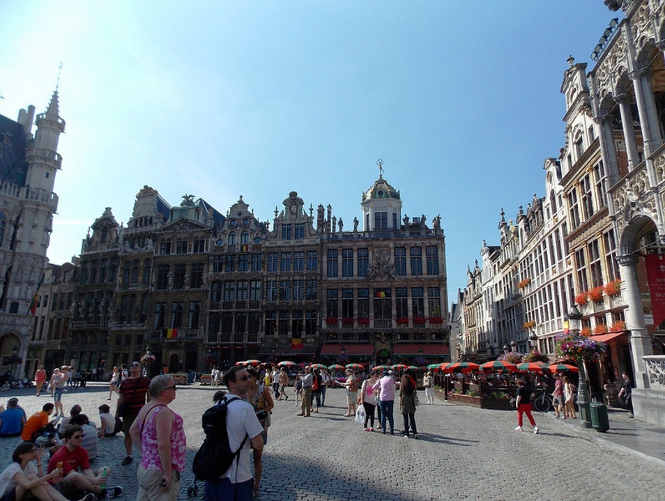 A peaceful square Brussels  Belgium