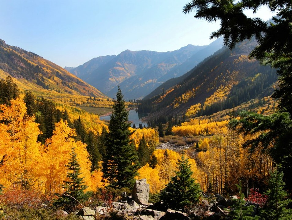 Leaf Peeping at Maroon Bells Aspen Colorado United States