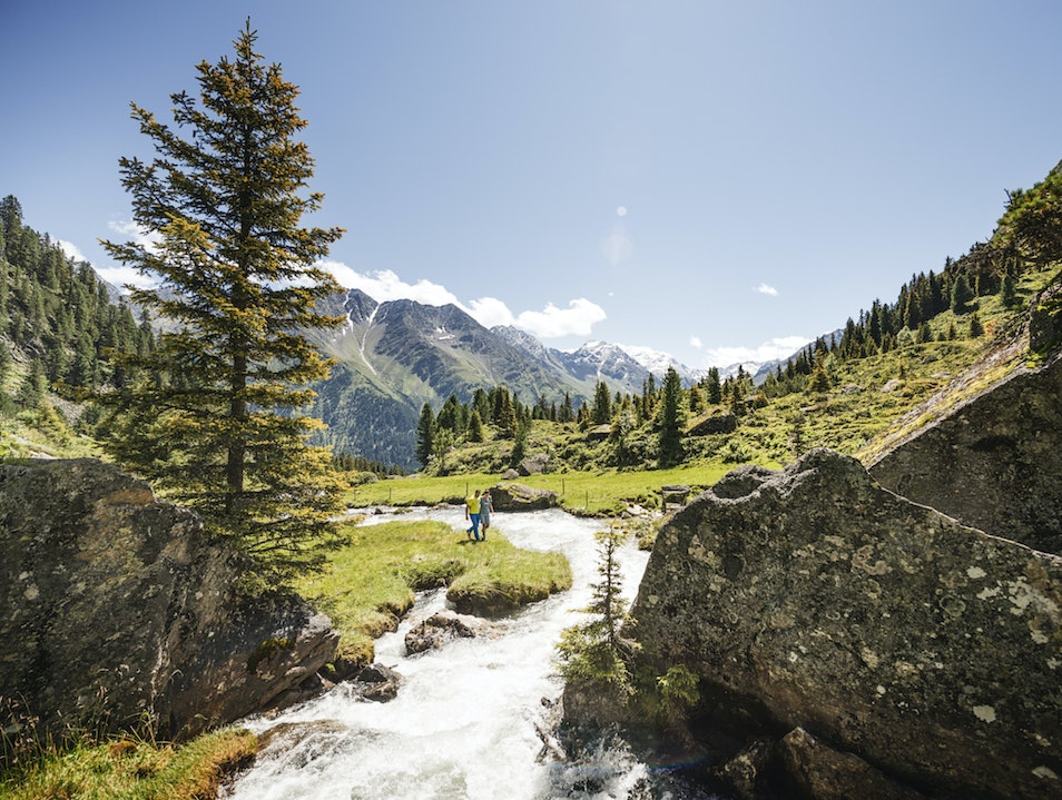 Hiking through the Stubai Valley Neustift Im Stubaital  Austria