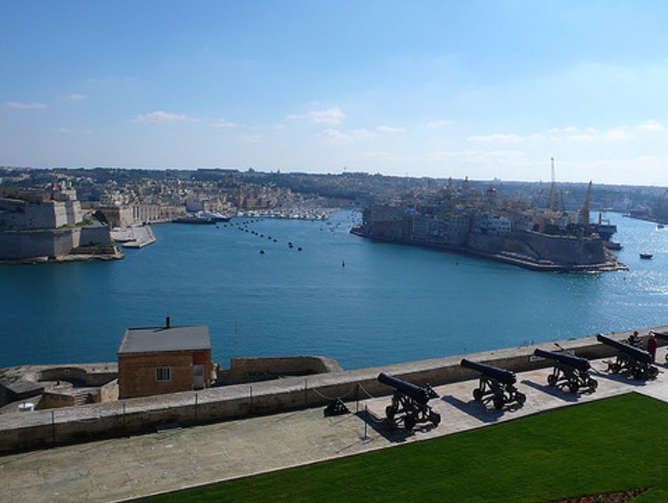 A Panoramic View of the Grand Habour  Il Belt Valletta  Malta