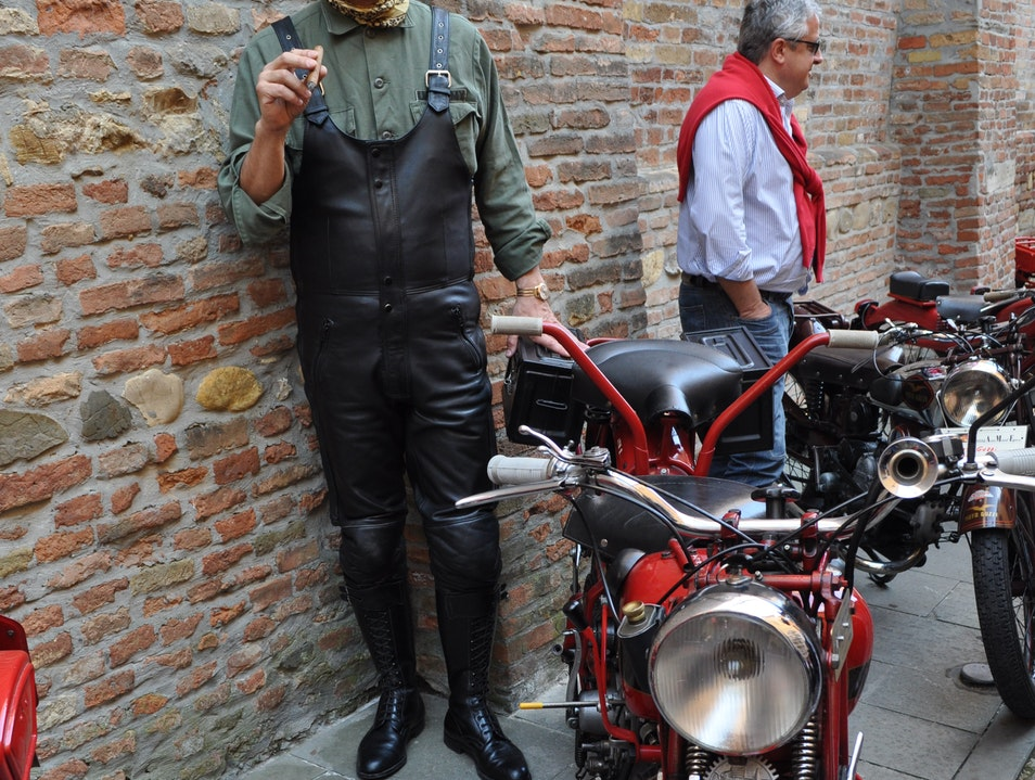 A Man and His Bike Dozza  Italy