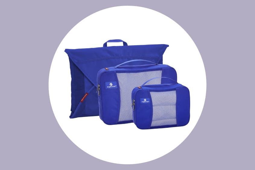 Packing cubes help keep clothes neat and organized.