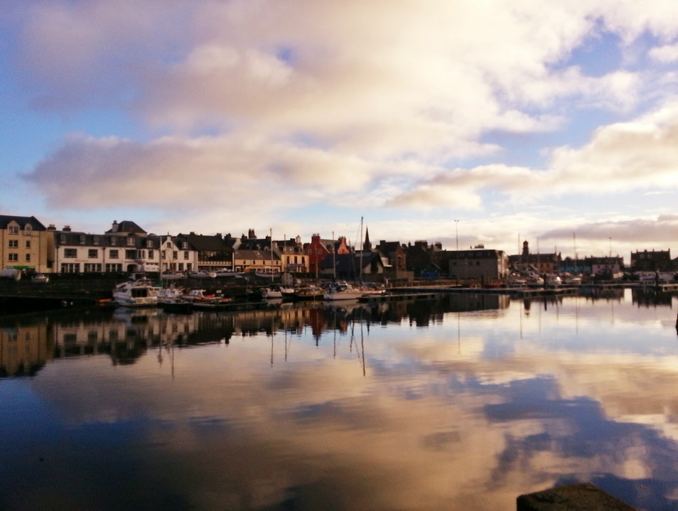 A Slow Stroll by Stornoway Harbour Stornoway  United Kingdom