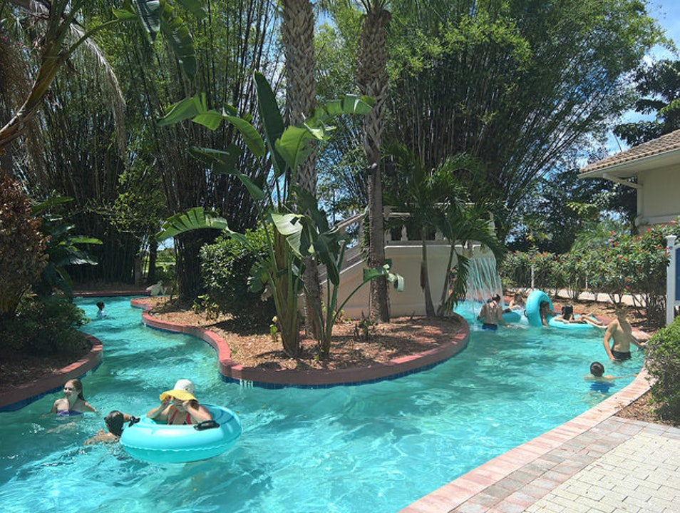 Fun at the Pool: Orlando's First Resort Wave Pool, Waterslides, A Peaceful Formal Pool,  and a Lazy River