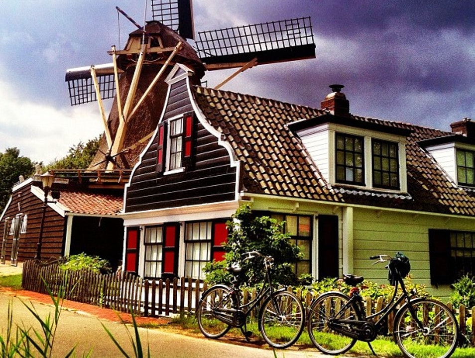 Old School Amsterdam Windmill