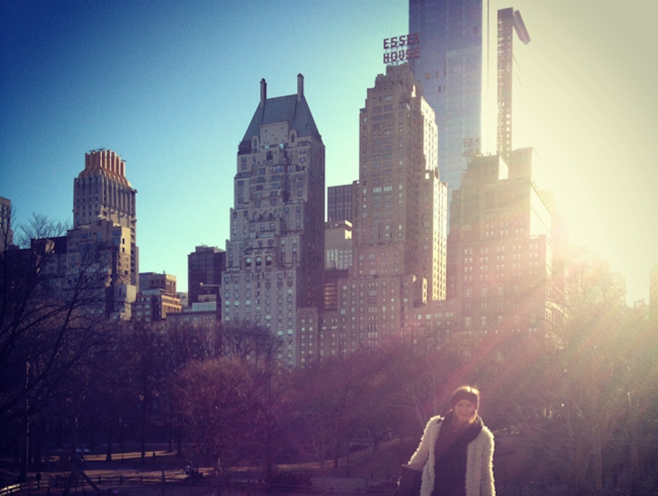 one hand in the air for the big city. New York New York United States