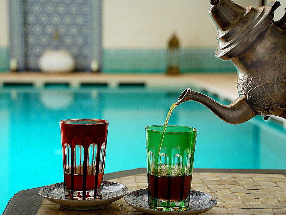 Tea Ceremony: Moroccan Mint Tea Marrakech  Morocco