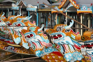 Dragon Boats in Huế,
