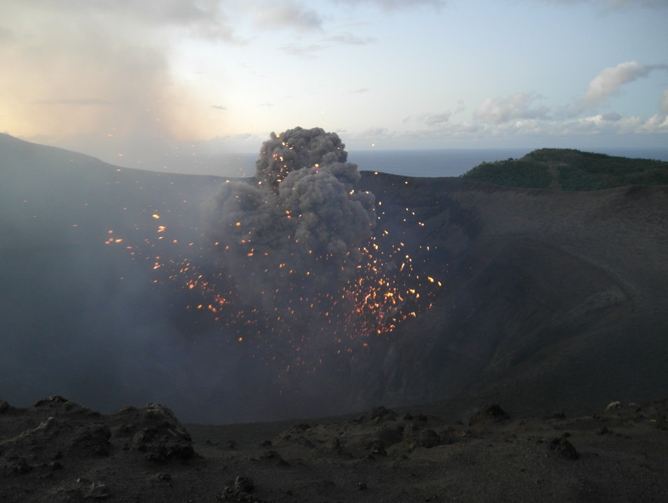 Watching an Active Volcano