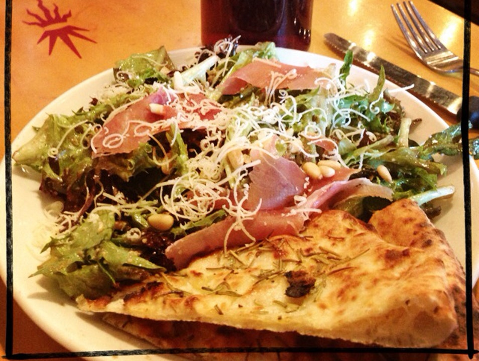 Punch Salad And Neapolitan Pizza - Yum!