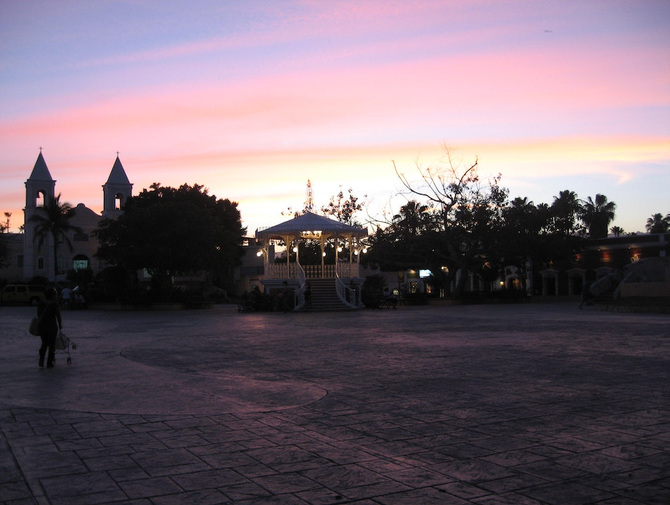 An Evening on Central Plaza San José del Cabo  Mexico