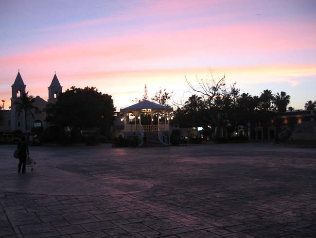 An Evening on Central Plaza