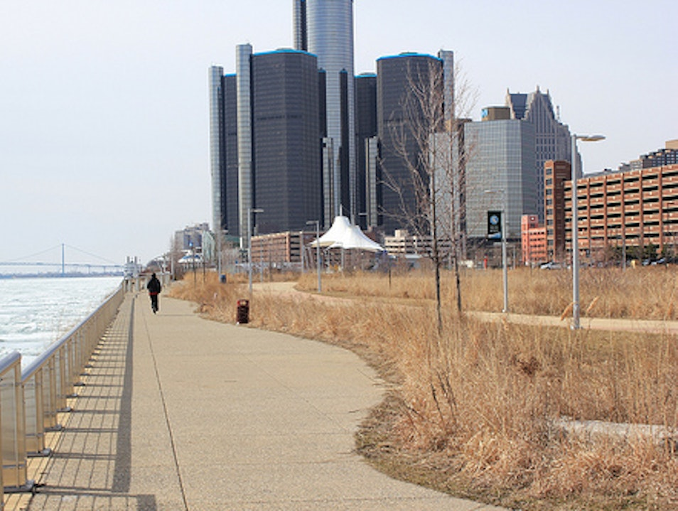 Riverfront Running and Park Detroit Michigan United States