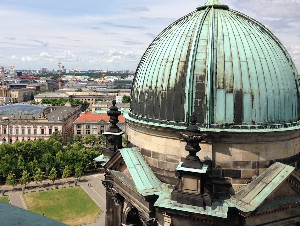See Berlin from the Berliner Dom Walkway Berlin  Germany