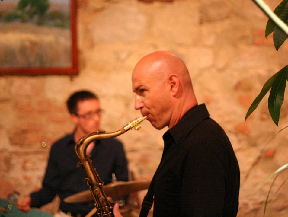 Live Jazz at Locanda's wine bar Montepulciano  Italy