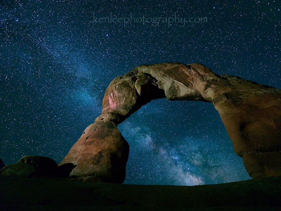 Stargazing in Arches National Park Moab Utah United States
